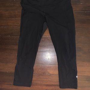 Lululemon black from leggings sz 10
